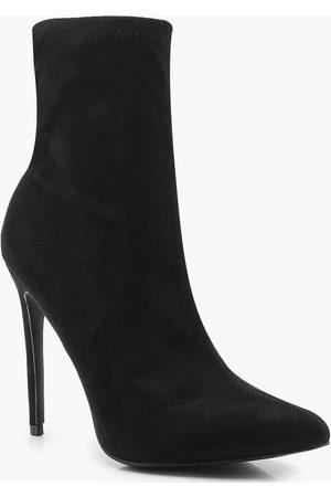 Boohoo Pointed Toe Stiletto Sock Boots
