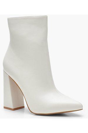 Boohoo Flared Heel Sock Boots