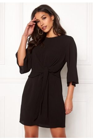 Ax Paris Tie Waist Mini Dress Black L (UK14)