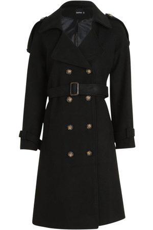 Boohoo Dame Trenchcoats - Belted Wool Look Trench