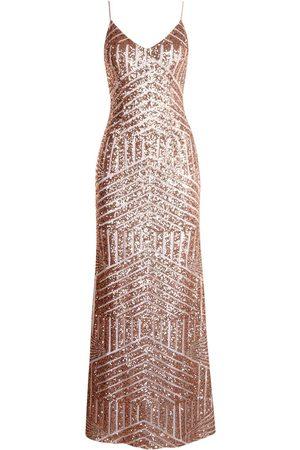 Boohoo Dame Hverdagskjoler - Sequin & Mesh Strappy Maxi Dress
