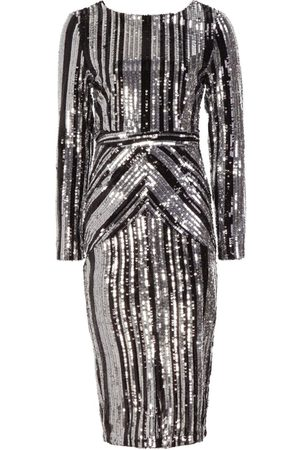 Boohoo Dame Bodycon kjoler - Boutique Lara Stripe Sequin Midi Dress