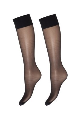 Decoy Dame Bukser - Deocy Silk Look 20d Kneehighs 2-pakning * Fri Frakt