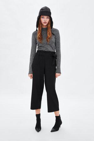 Zara Culottebukse med knytebånd