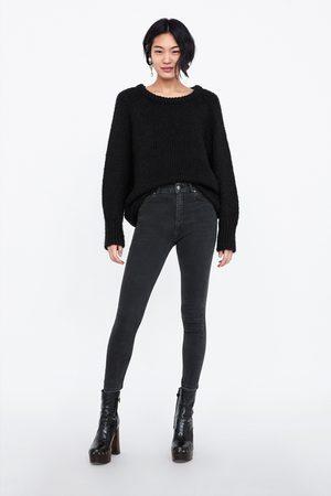 Zara JEANS ZW PREMIUM HIGH WAIST LEAD BLACK
