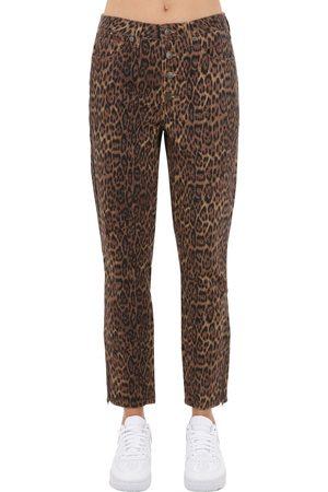 Guess Leo Print Cotton Denim Jeans