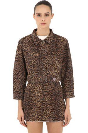 Guess Leo Print Cotton Denim Jacket