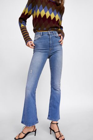 Zara Dame Bootcut - JEANS ZW PREMIUM HIGH WAIST SKINNY FLARE ABBEY BLUE