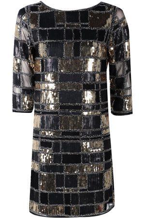 Boohoo Boutique Sequin 3/4 Sleeve Bodycon Dress