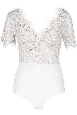 Boohoo Premium Eyelash Lace Bodysuit