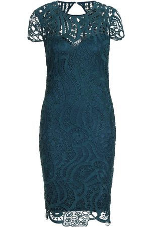 Boohoo Lace Cap Sleeve Midi Dress