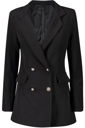 Boohoo Tall Button Detail Tailored Blazer