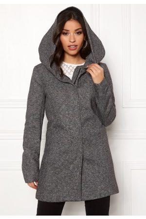 Only Dame Vinterkåper - Sedona Light Coat Dark Grey Melange XS