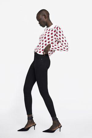 Zara Dame High waist - JEANS ZW PREMIUM HIGH WAIST REVOLVE BLACK