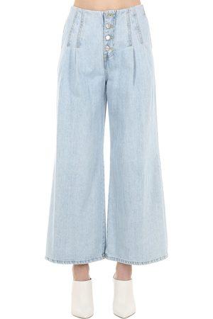 SJYP Wide Leg Denim Jeans W/ Dart Details