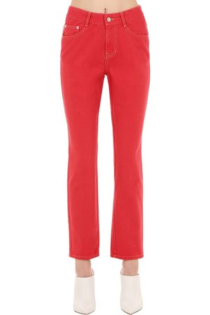 SJYP Mid Rise Straight Leg Cotton Denim Jeans