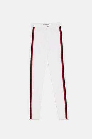 Zara Dame Jeggings - Jeggings med bånd og høyt liv shaper