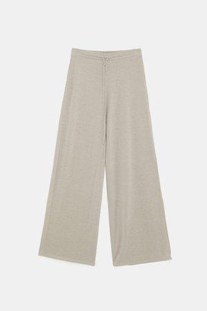 Zara Dame Bukser - Bukse med metallisert tråd