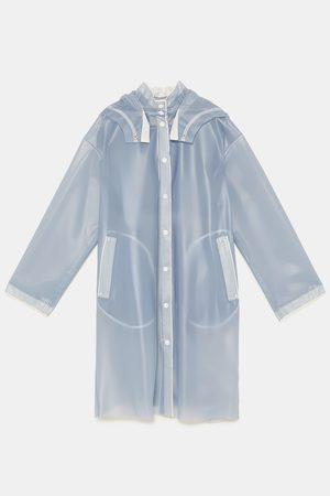 Zara Semitransparent regnfrakk