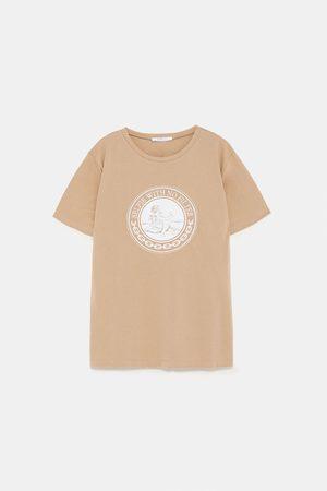Zara Dame Skjorter - T-skjorte med broderi