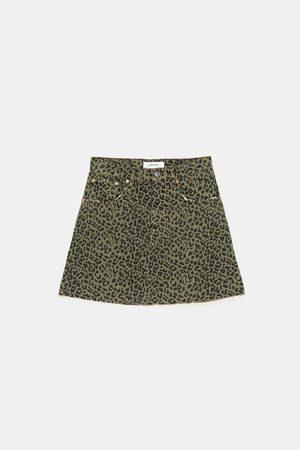 Zara Miniskjørt zw premium leopard print