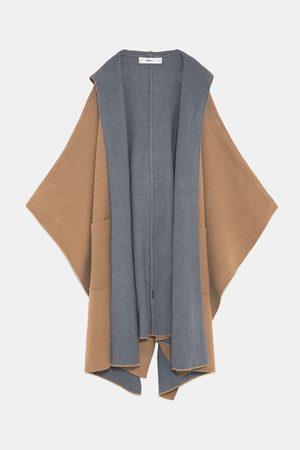 Zara Dobbeltsidig kappe med hette