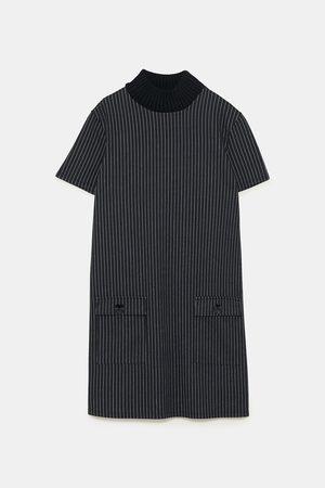 Zara Dame Kjole med strikket hals