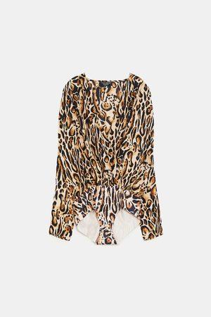 Zara Dame Body - Body med mønster
