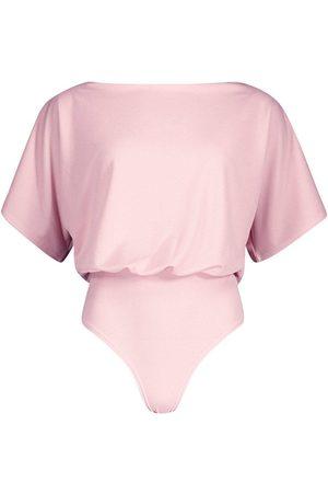 Boohoo Slash Neck Bodysuit