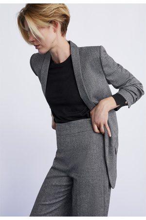 Zara Culottebukse med fiskebensmønster