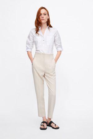 Zara Dame Langermede - Enkel poplinskjorte