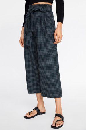 Zara Rutet culottebukse med belte