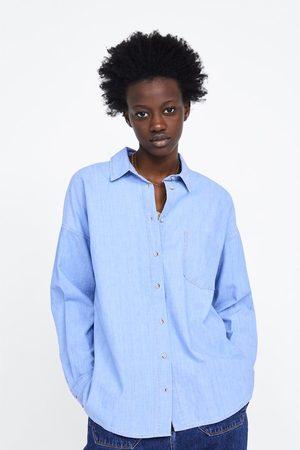 Zara Oversize denimskjorte