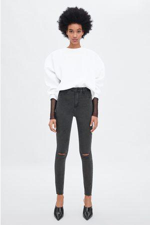 Zara Super stretch jeggings med høyt liv og hull