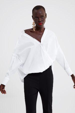 Zara Dame Langermede - Poplinskjorte