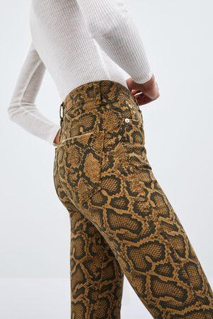Zara Skinny denimbukse med dyremønster