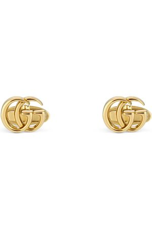 Gucci GG Running yellow gold cufflinks