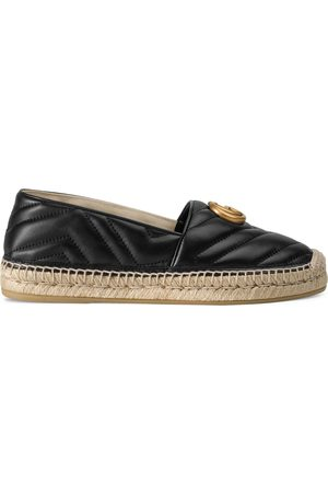 Gucci Leather espadrille with Double G