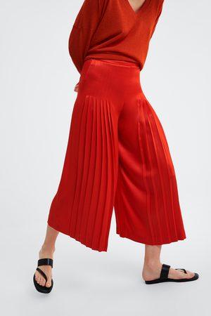 Zara Culottebukse med folder