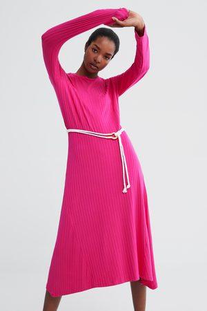 Zara Dame Maxikjoler - Lang kjole med belte