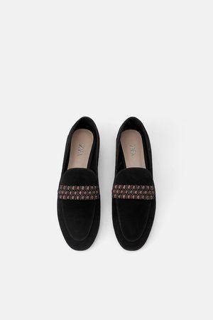 Zara Dame Loafers - Skinnmokasin med detalj