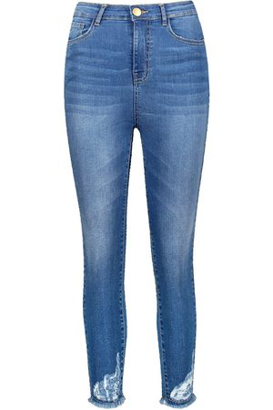 Boohoo Petite Distressed High Rise Skinny Jean