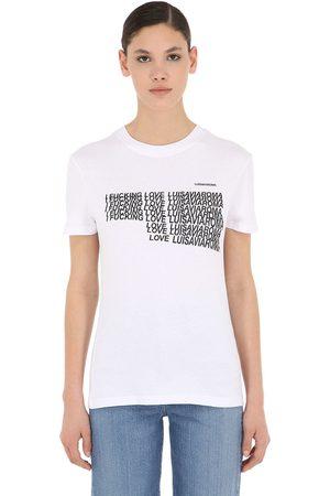 THE ACADEMY NEW YORK I Fucking Love Lvr Cotton Jersey T-shirt