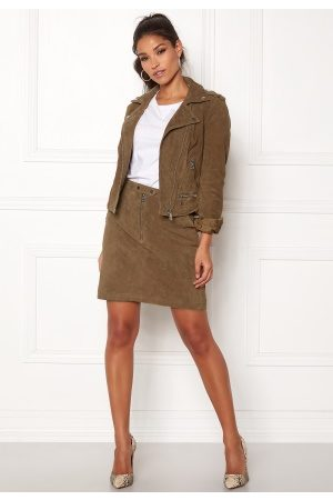 Vero Moda Garbo Suede Short Skirt Tobacco Brown L