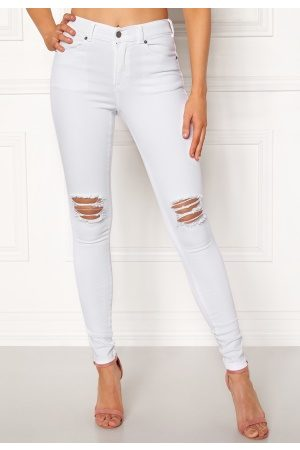 Dr Denim Dame Skinny - Lexy White Ripped Knees XS