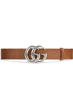 Gucci Herre Belter - Leather belt with Double G buckle