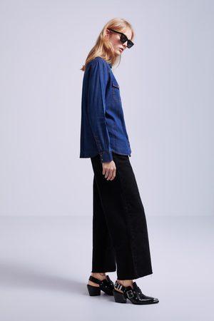 Zara Jeansskjorte med lommer