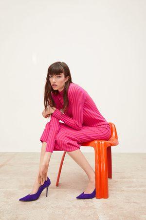 Zara Dame Strikkede kjoler - Tofarget strikkekjole
