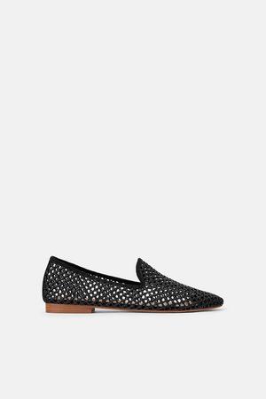 Zara Dame Loafers - Flat sko med hullmønster