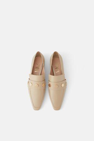 Zara Dame Loafers - Skinnmokasin med nagler